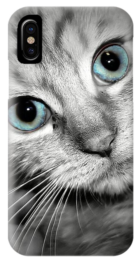 Blue Eyes IPhone X Case featuring the photograph Blue Eyed Baby by Joyce Baldassarre
