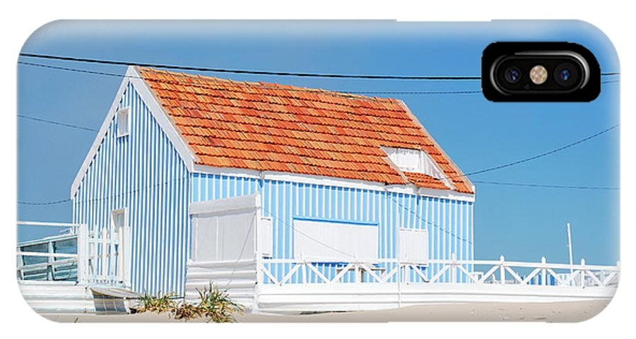 Architecture IPhone X Case featuring the photograph Blue Fisherman House by Luis Alvarenga