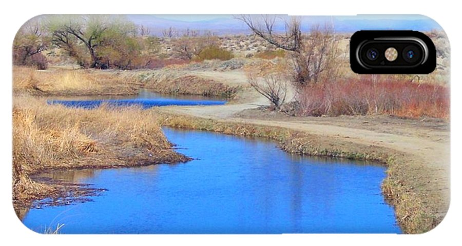 Hills IPhone X / XS Case featuring the photograph Blue Water by Marilyn Diaz