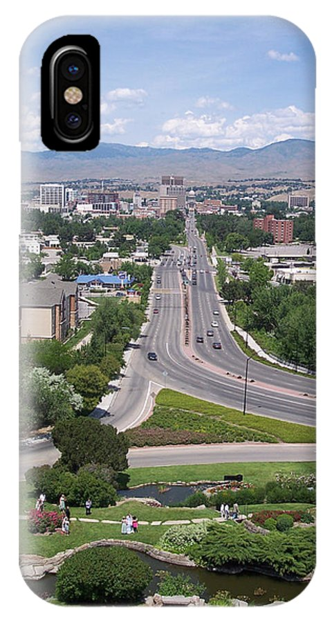 Views IPhone X Case featuring the photograph Boise From Boise Depot Tower by Georgia Hamlin