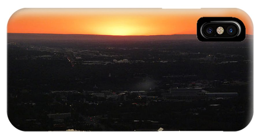 Sun IPhone X Case featuring the photograph Boise Id Sunset by Fernando Delgado