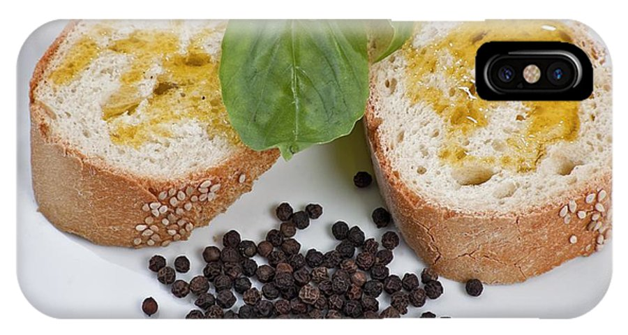 Bread IPhone X Case featuring the photograph Bread And Olive Oil by Enrico Mariotti