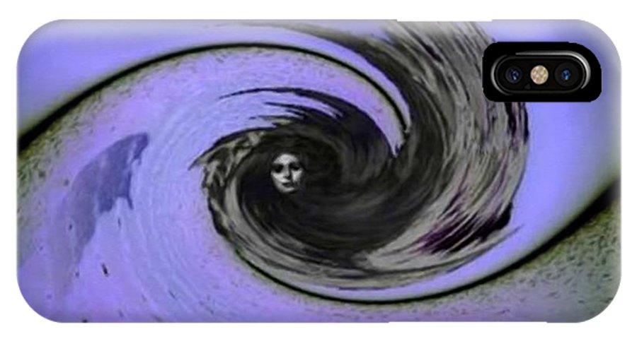 Woman IPhone X Case featuring the digital art Breaking Point by Gun Legler