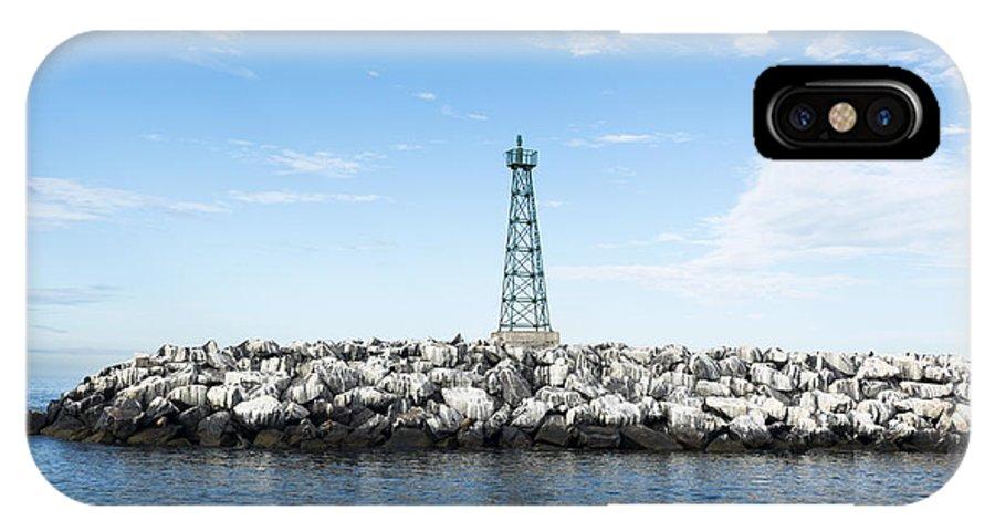 Breakwater IPhone X Case featuring the photograph Breakwater by Joe Belanger
