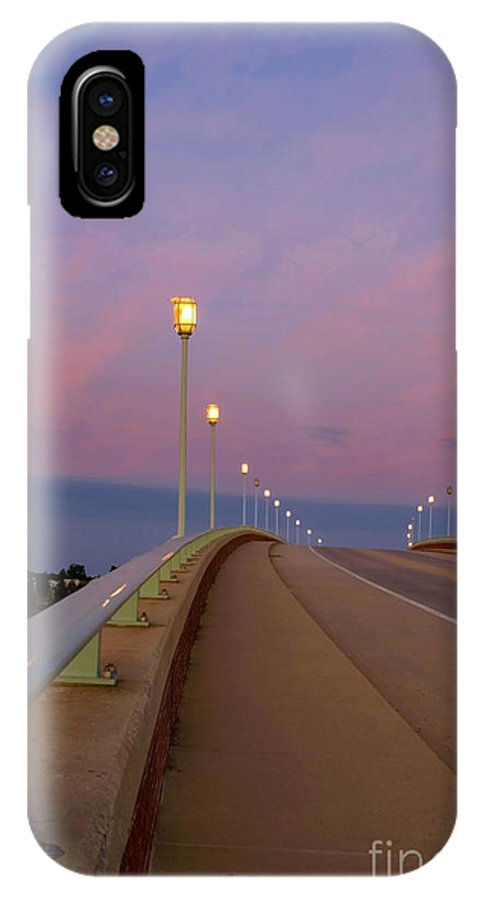 Annapolis IPhone X Case featuring the photograph Bridge To The Moon by Benjamin Reed