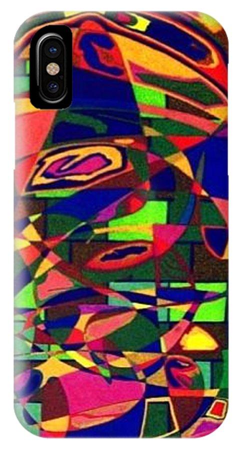 Hello IPhone X Case featuring the painting Bulwark by Jonathon Hansen