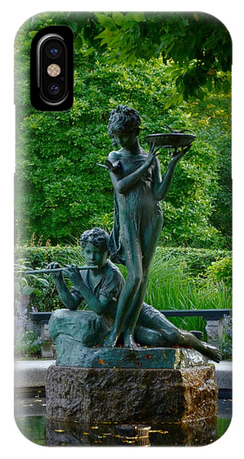 Burnett IPhone X / XS Case featuring the photograph Burnett Fountain by Kathrine R Mitchell