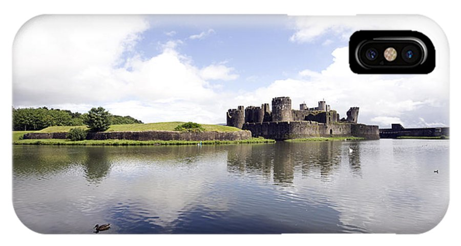 Caerphilly Castle IPhone X Case featuring the photograph Caerphilly Castle by Dawn Duffield