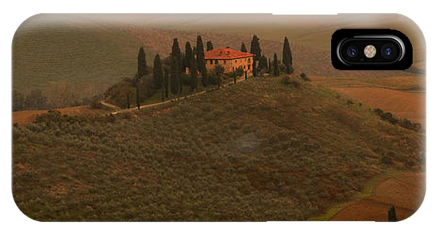 Tuscany IPhone X / XS Case featuring the photograph Casa Belvedere by Michael Mischley