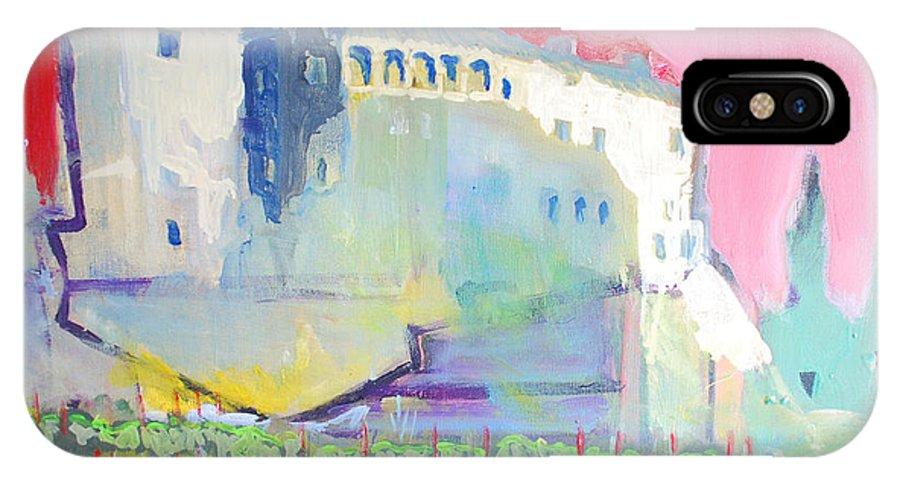 Landscape IPhone X Case featuring the painting Castle by Kurt Hausmann