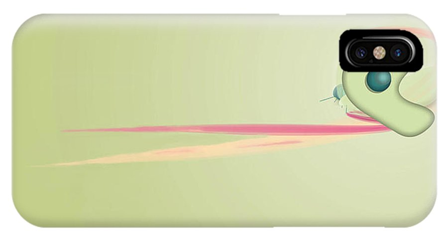 Digital Art IPhone X Case featuring the painting Chameleon Image002 by Thomas Lovgren