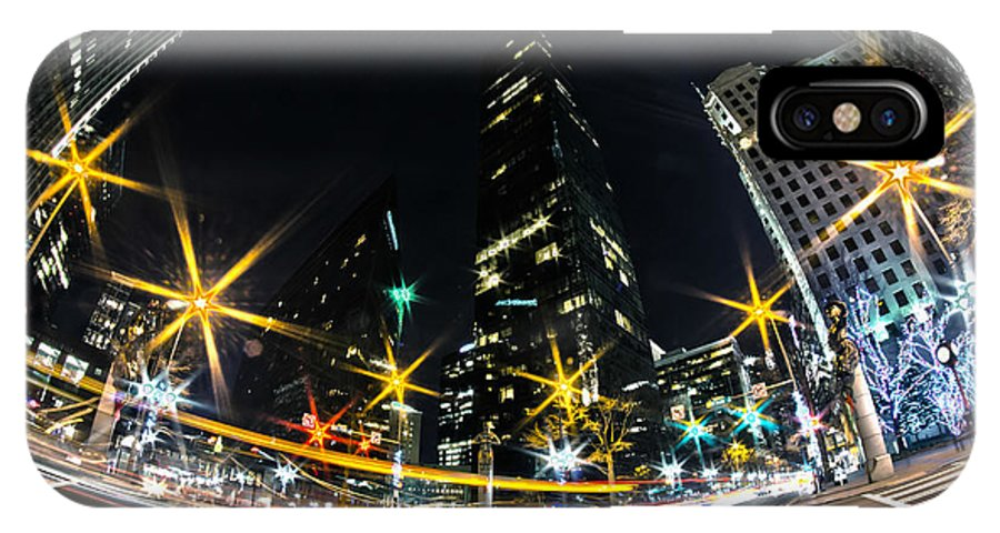 1st IPhone X Case featuring the photograph Charlotte Nc Usa - Nightlife Around Charlotte by Alex Grichenko