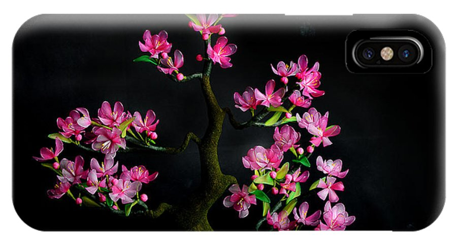 Flower IPhone X Case featuring the photograph Cherry Blossom by Isabella Art Shop