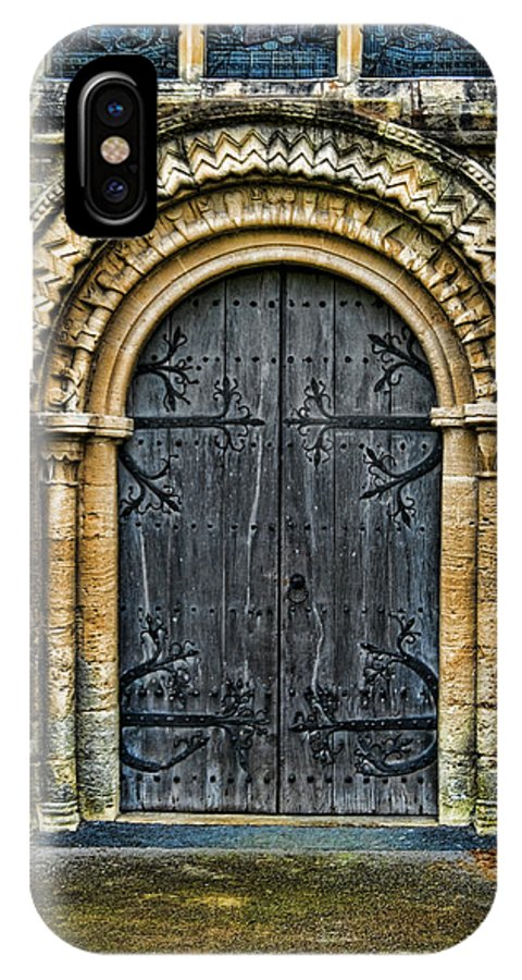 Door Church Color Arch Wood IPhone X Case featuring the photograph Church Door by Noel Lopez