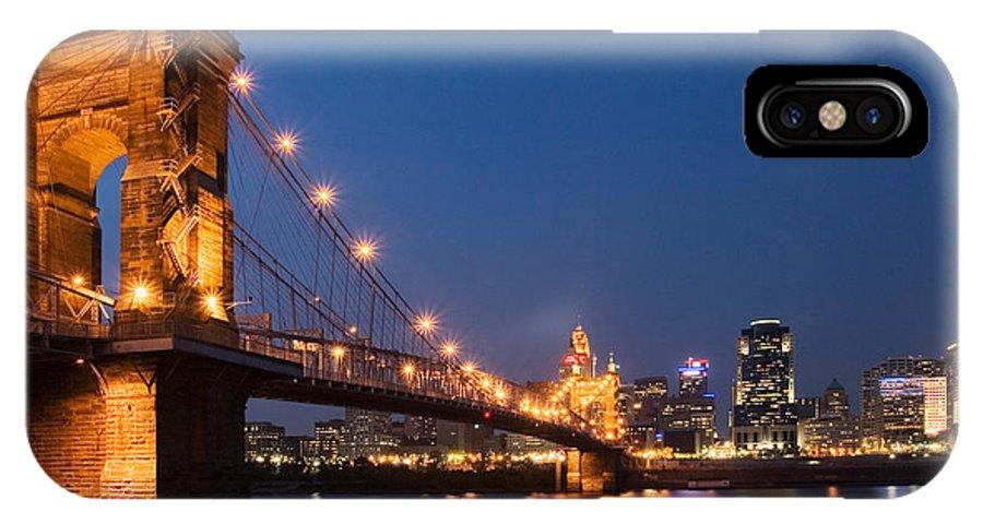 Cincinnati IPhone X / XS Case featuring the photograph Cincinnati, Ohio by David Davis