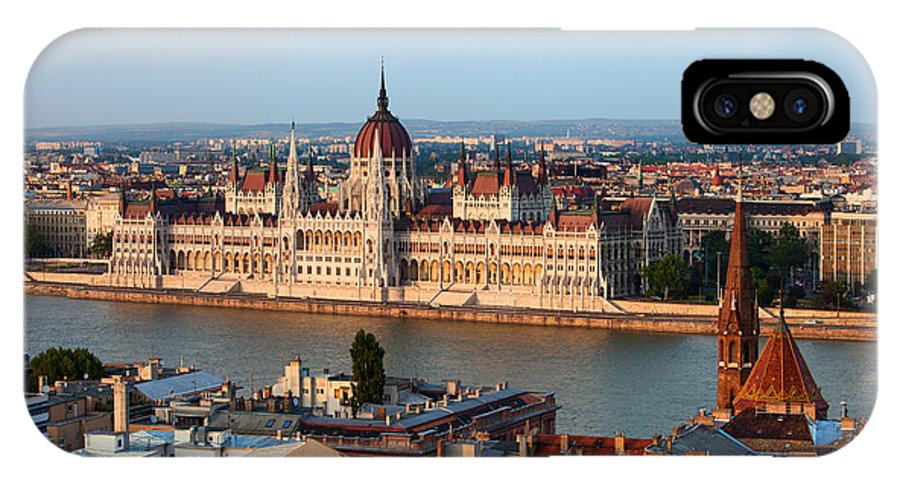 Architectural IPhone X Case featuring the photograph City Of Budapest Cityscape by Artur Bogacki