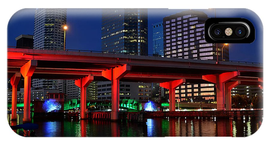 Tampa Bay Florida IPhone X Case featuring the photograph City Of Color by David Lee Thompson