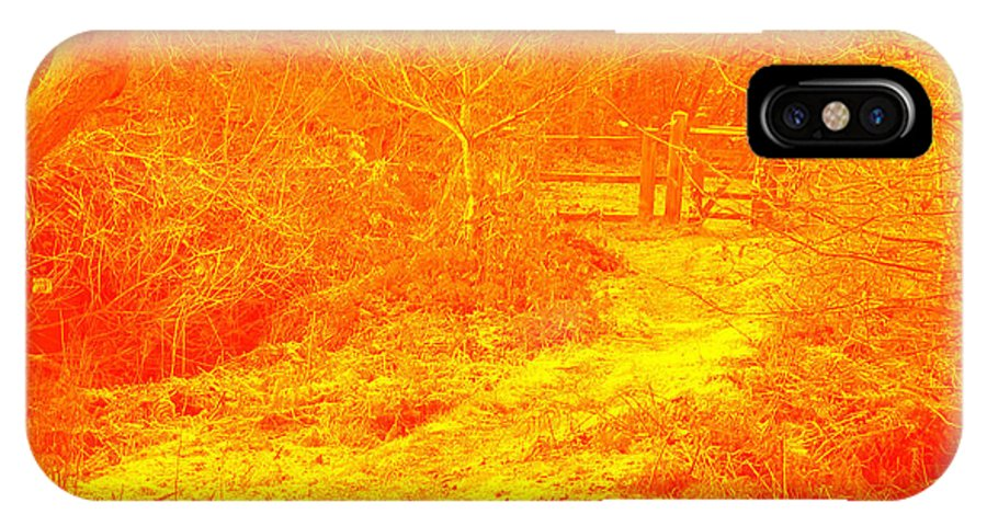 Woods IPhone X Case featuring the photograph Clifton Woods by John Hebb