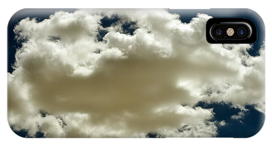 Abstract IPhone X Case featuring the photograph Cloud On Dark Sky. by Alexandr Malyshev