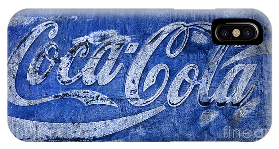 Coca Cola IPhone X Case featuring the photograph Coca Cola Blues by John Stephens