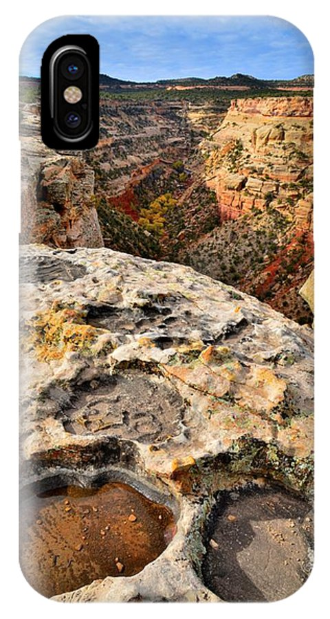 Colorado National Monument IPhone X Case featuring the photograph Cold Shivers by Ray Mathis