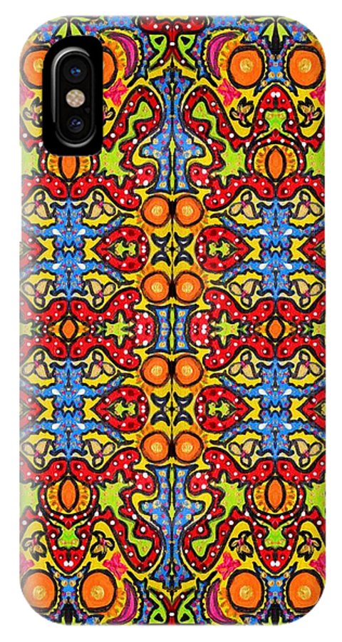 Ethnic IPhone X Case featuring the photograph Colorful Folklore Pattern by Julia Fine Art And Photography