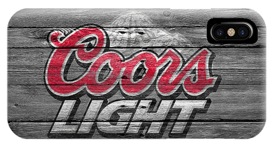 Coors Light IPhone X Case Featuring The Photograph Coors Light By Joe  Hamilton
