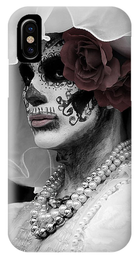 IPhone X Case featuring the photograph Corpse Bride by Rhonda Burger