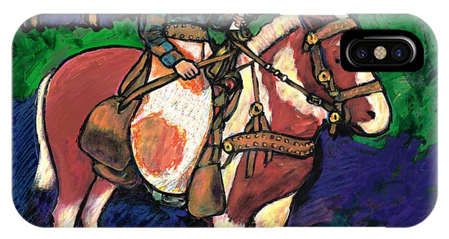 Texas IPhone X Case featuring the painting Cowboy Dale by Dale Moses