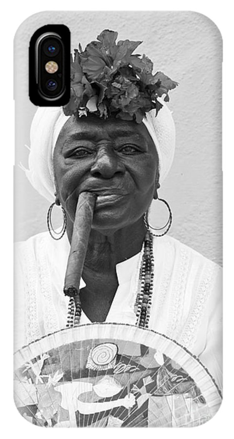 Cuban IPhone X Case featuring the photograph Cuban Lady by Chris Dutton