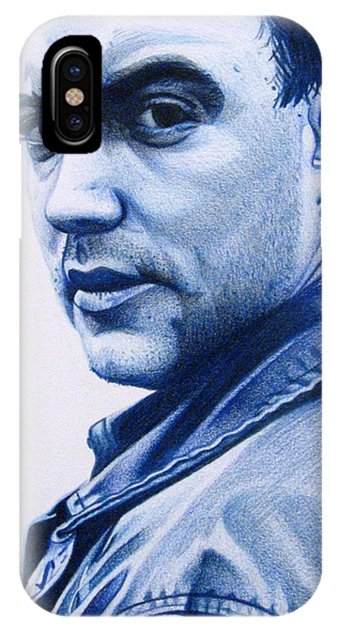 Dave Matthews IPhone X Case featuring the drawing Dave Matthews by Joshua Morton