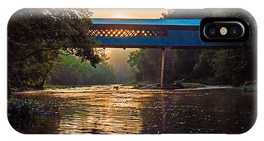 Swann Bridge IPhone X Case featuring the photograph Dawn At Swann Bridge by Phillip Burrow