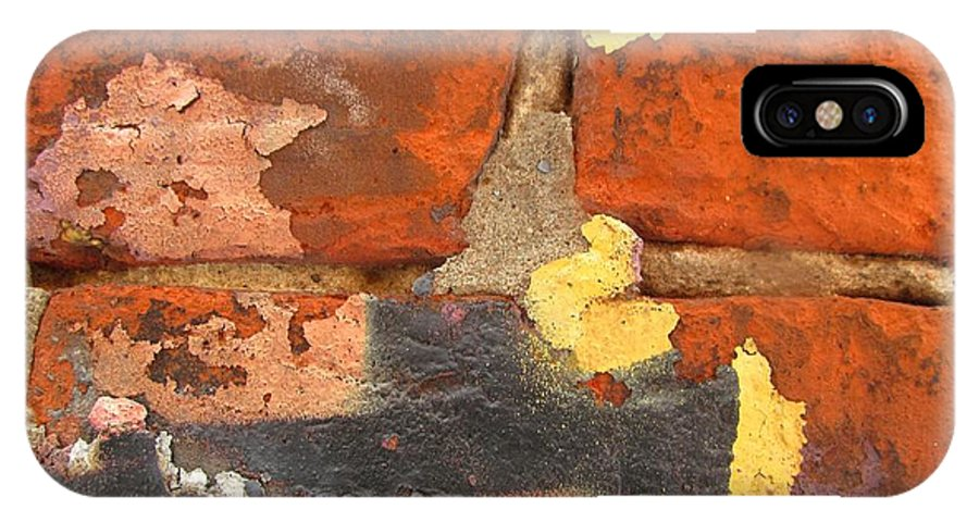 Color Wall IPhone X Case featuring the photograph Decay Beauty by Alfred Ng