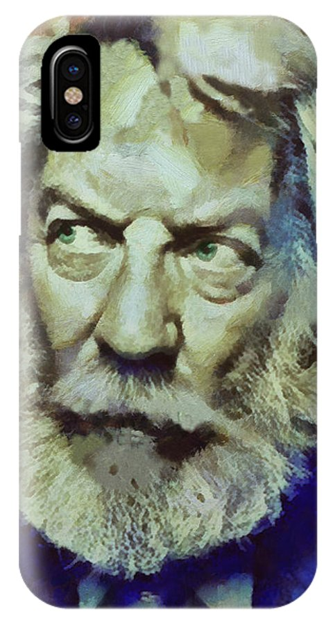 Donald Sutherland IPhone X Case featuring the painting Donald by Janice MacLellan
