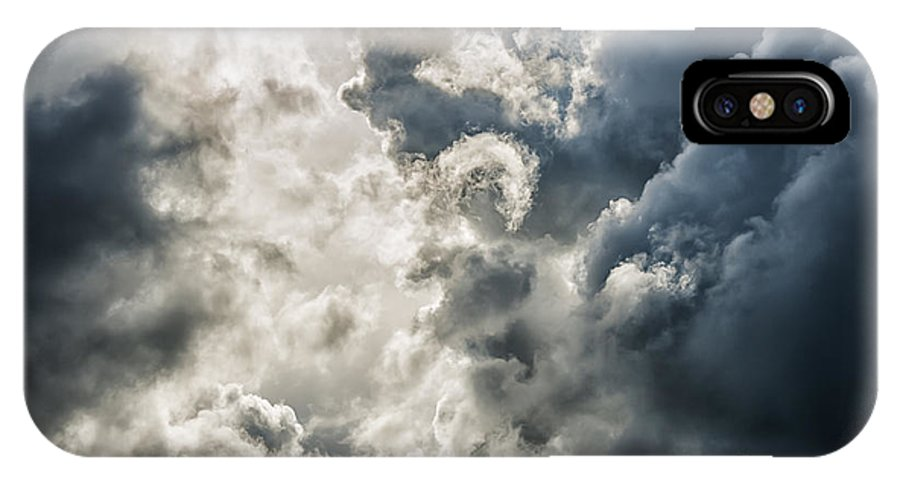 Stormy Sky IPhone X Case featuring the photograph Drama In The Sky by Thomas R Fletcher