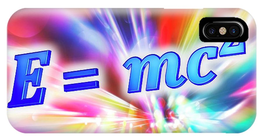 Equation IPhone X Case featuring the photograph Einstein's Mass-energy Equation by Alfred Pasieka