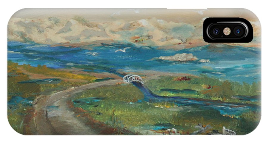 Gail Daley IPhone X Case featuring the painting Elkhorn Slough by Gail Daley