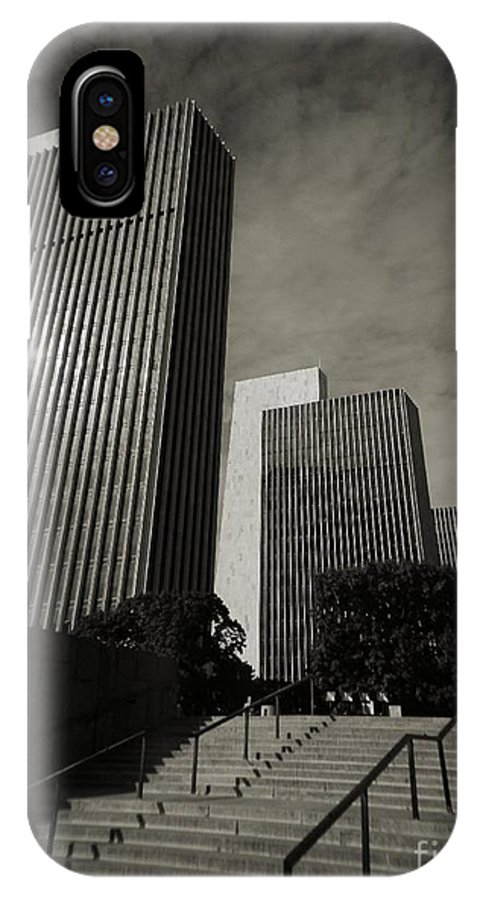 IPhone X Case featuring the photograph Empire State Plaza by Chet B Simpson