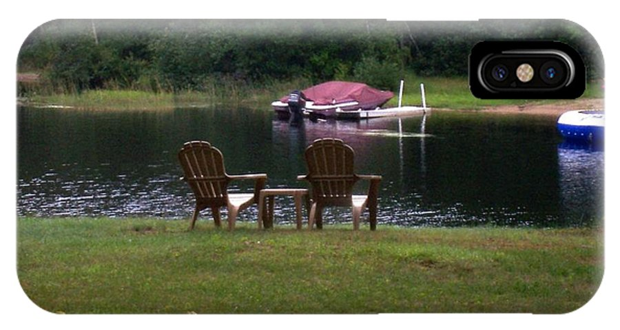 Chairs IPhone X Case featuring the photograph Empty Chairs by Catherine Gagne