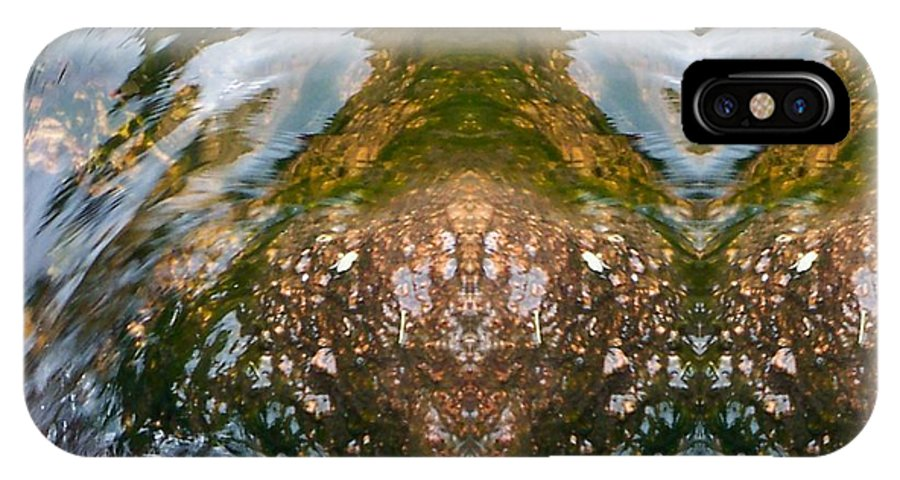 Water IPhone X Case featuring the photograph Faces In Water II by Lanita Williams