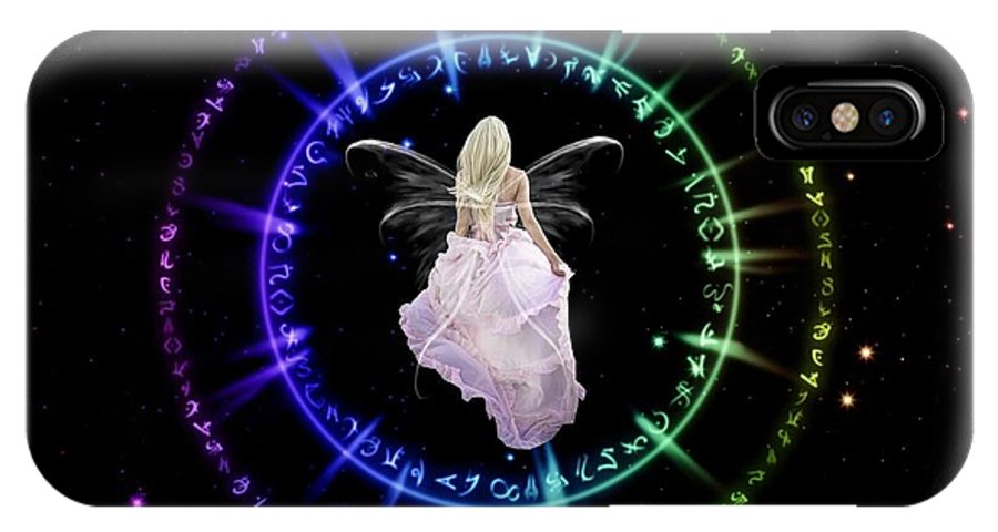 Digital IPhone X Case featuring the digital art Fairy Portal by Rhonda Barrett