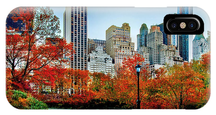 Central Park IPhone X Case featuring the photograph Fall In Central Park by Az Jackson