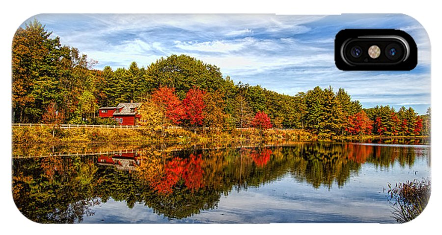 Fall IPhone X Case featuring the photograph Fall In New England by Bennie Thornton