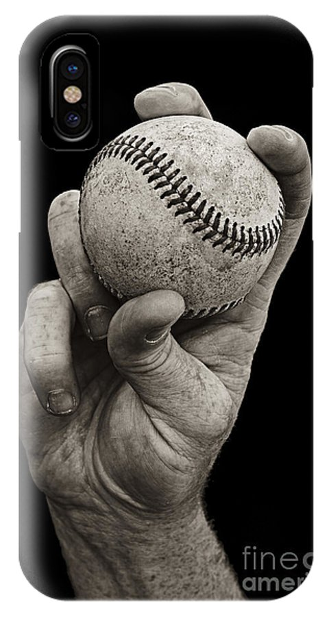 Baseball IPhone X Case featuring the photograph Fastball by Diane Diederich