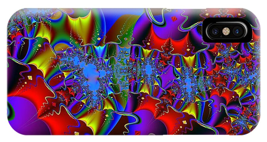 IPhone X Case featuring the digital art Festivale by Archie Washington
