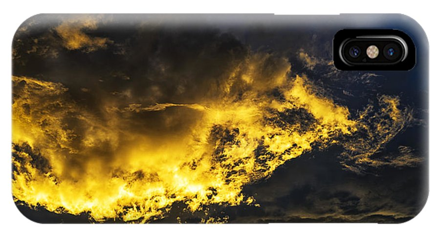 Sunrise IPhone X Case featuring the photograph First Light by Thomas R Fletcher