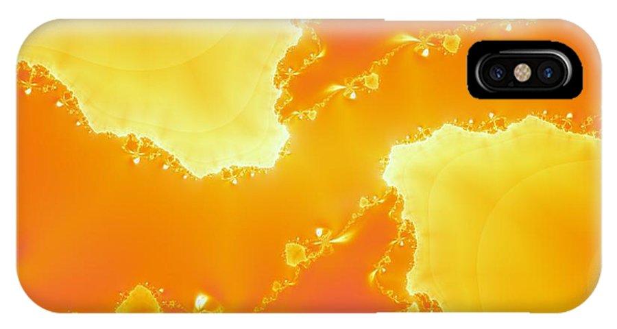 Original IPhone X Case featuring the digital art Flarium Solarium by Archie Washington