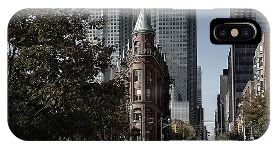 Architecture IPhone X Case featuring the photograph Flatiron Gooderham Building by Nicky Jameson