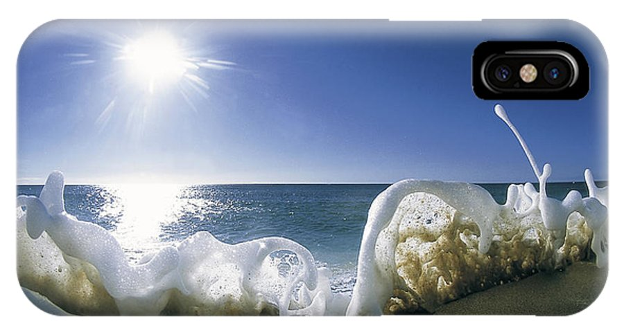 Sea Foam IPhone X Case featuring the photograph Foam Inertia by Sean Davey