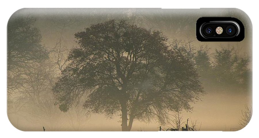 Fog IPhone X Case featuring the photograph Foggy Morning by Shannon Story